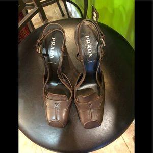 Prada Sling backs heels